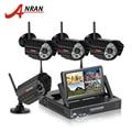 Tela de 7 Polegada 4CH NVR Sistema de CCTV Sem Fio 1 TB HDD 720 P Câmera IP WIFI IR Night Vison À Prova D' Água Kit de Vigilância de Segurança Em Casa