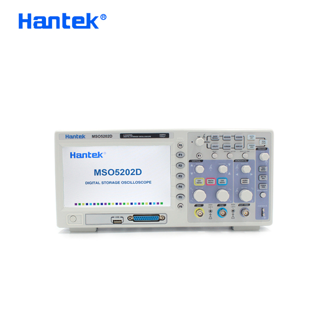 Hantek MSO5202D הרשמי Osciloscopio USB הדיגיטלי אוסצילוסקופ נייד אוסצילוסקופ 200 MHz 2 ערוצים + 16 הערוץ Logic Analyzer