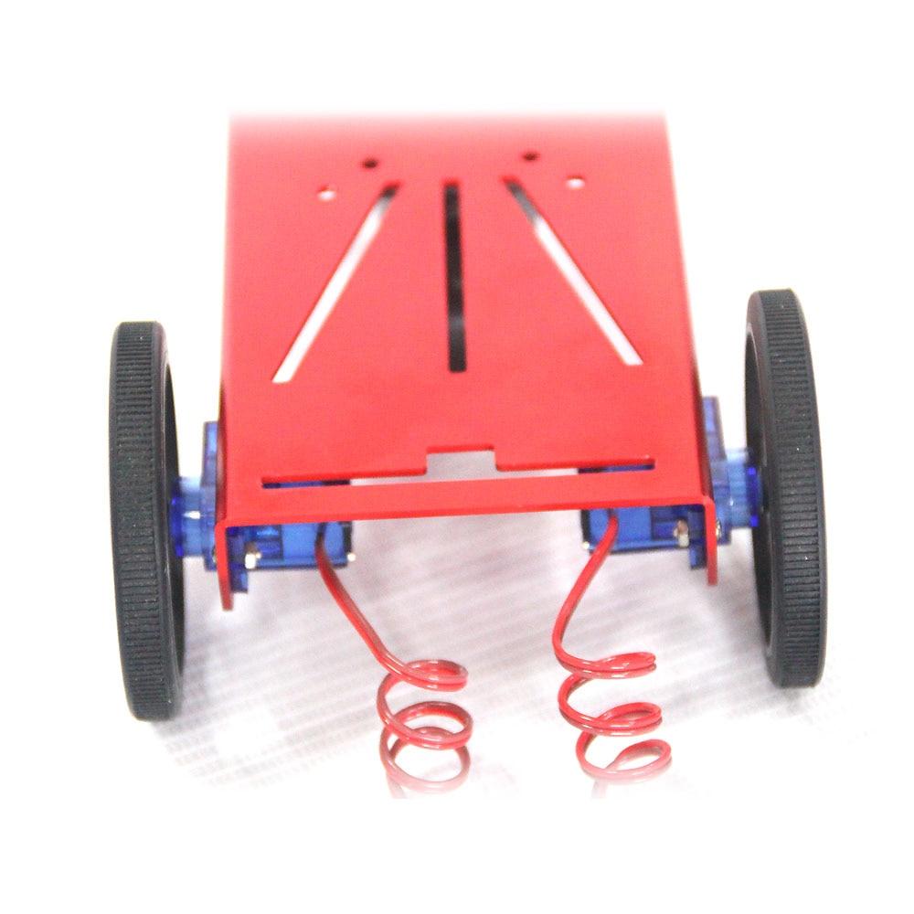 FEETECH 2WD Mini 9g servo Robot Mobile Platform Kit FT-MC-001 DIY educational mini Rc car mobile robot motion planning