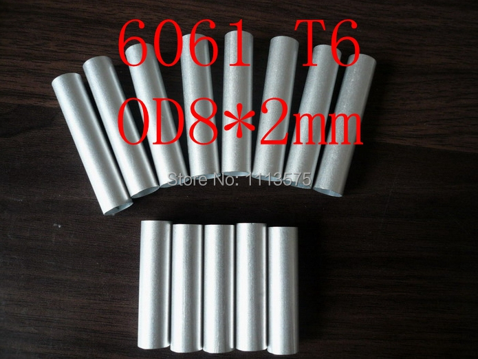 OD8*ID4mm 8*2mm 6061 T6 Al Aluminium Thick Wall Precision Industry Tube Pipe Profile
