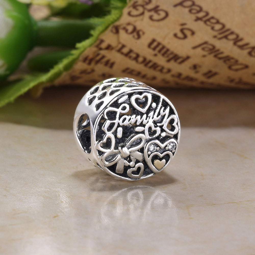 bf6cff4d6 ... germany moonmory love family heart 925 sterling silver charm fit pandora  bracelet snake chain diy jewelry