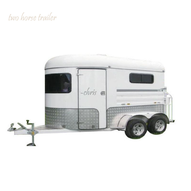 Two Horse Straight Load Extended Version, Horse Trailer Chinese Import Horse Trailer For Sale