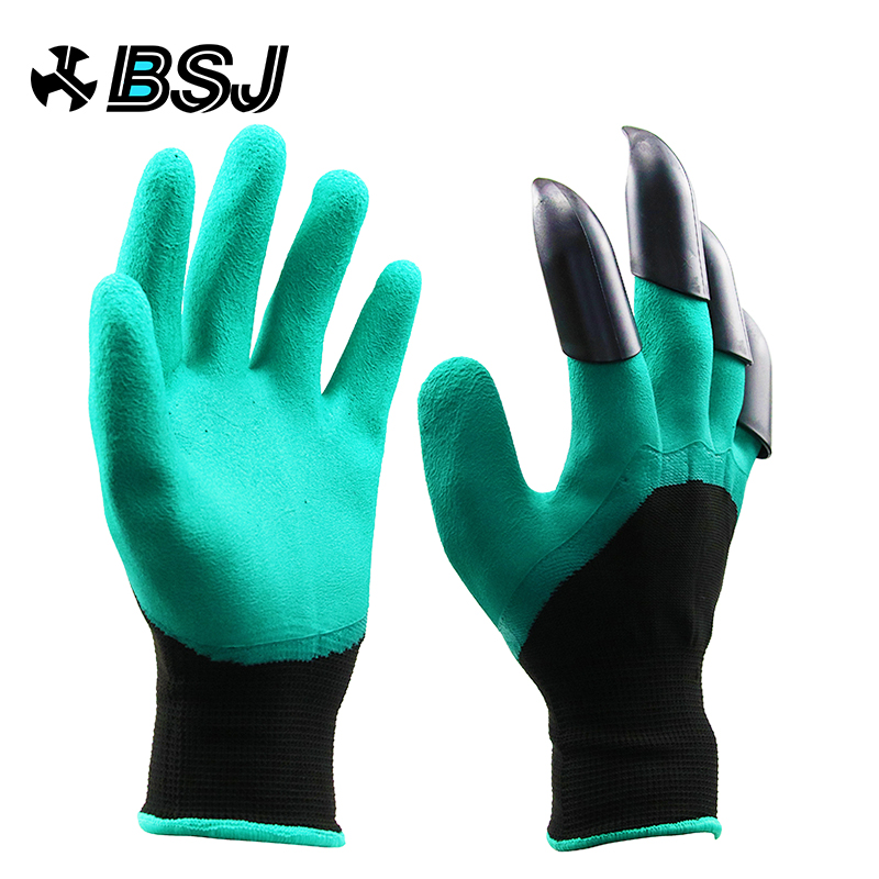 Garden Gloves With Fingertips Claws Quick Easy to Dig and Plant Safe for Rose Pruning Gloves Mittens Digging Gloves(China)
