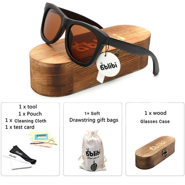 Ablibi Exclusivo dos homens Óculos Polarizados Óculos de Sol de Bambu de  Madeira De Madeira Flutuante 137f3f7d34
