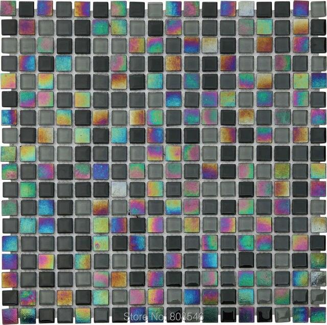 Schillern Balck Glas Mosaik Fliesen Wand Fliesen Badezimmer Dusche Fliesen  Schwimmbad Tapete Showroom Salon Dekoration