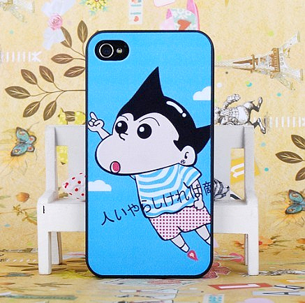 Cartoon embossed for apple for iphone for 4 4s lovers phone case shell protective case