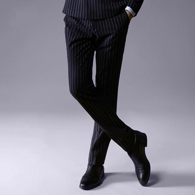 ZuverläSsig Männer Formelle Kleidung Hosen Slim Fit Mode Gestreiften Formale Geschäfts Hose Casual Mann Hosen Hochzeit Bräutigam Prom Mc Hosen SpäTester Style-Online-Verkauf Von 2019 50% Babykleidung Jungen