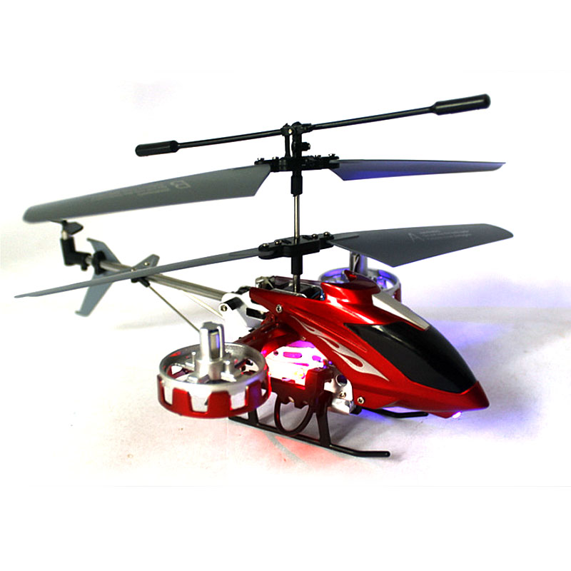 High Quality RC Helicopter For Kids Metal Aeromodelling Remote Control Rechargeable Aircraft <font><b>4</b></font>.5 CH Gyro RTF LED Lights SL