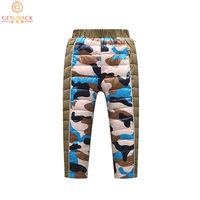 2019 Children Down Trousers for Winter Camouflage Print Boys & Girls Thermal Pants Kids White Duck Down Warm Outerwear, HC491