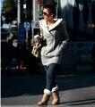 2015  Womens autumn/ winter Long Zip Tops sweatshirt Hoodie Coat Jacket Outerwear women coat