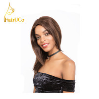 HairUGo Hair Malaysia Straight Virgin Human Hair Straight #1BColor Short Human Hair For Black Women Wigs Free Shipping HL.HILL