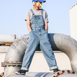 Новый мужской джинсовый широкие брюки комбинезоны для девочек рабочие повседневное модные мотобрюки для мужчин Уличная Хип Хоп Джинс