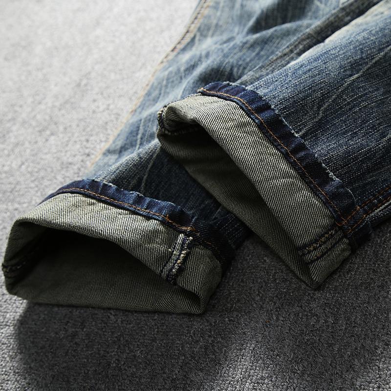 Nieuw Fashion Jeans Retro Vintage Designer Slim Fit Klassieke Jeans Katoen Denim Broek Superably Merk Biker Jeans Mannen 206