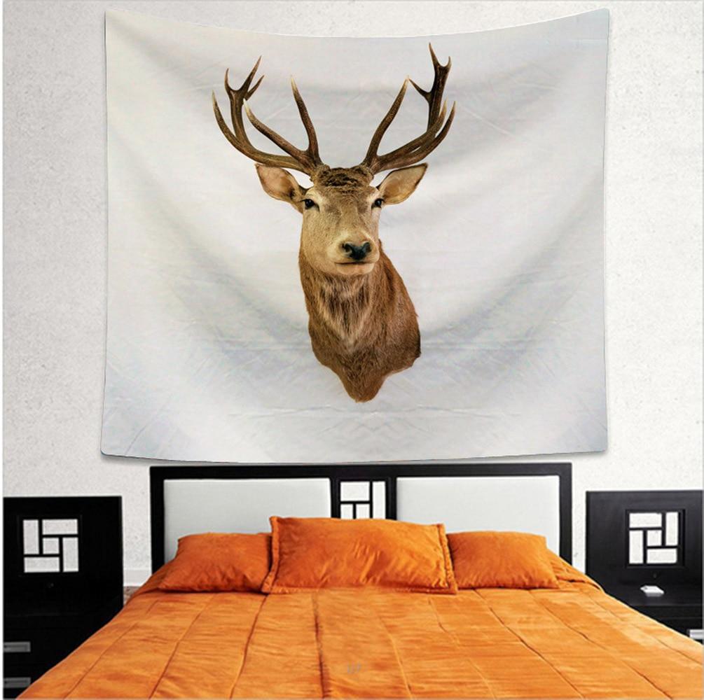 Seasons Change By JoJoesArt Tapestry Floral Deer Wall Hanging Animal Printed Sheets Maternal Love Bedding Decorative