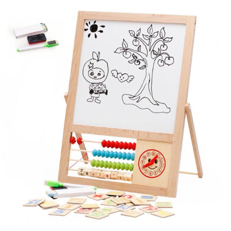 Новые магнитные Деревянный Рисунок Письменные доски раннего образования детей Игрушки для рисования Паззлы развитие интеллекта для детей