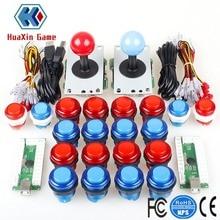 DIY Arcade Kit USB Null Verzögerung Encoder + 4/8 Way Stick + 5V LED beleuchtete Taste für Videospielkonsolen Mame Raspberry Pi