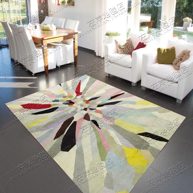 arc en ciel couleur abstraite tapis alfombras moderne a la main tapis salon chambre mode creative table basse canape tapete