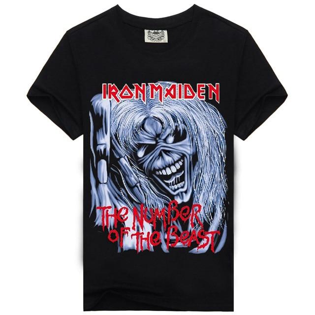 050f8335c Iron Maiden Pioneros De La Nueva Ola De Heavy Metal Rock Band Camisetas  Calidad Camiseta de