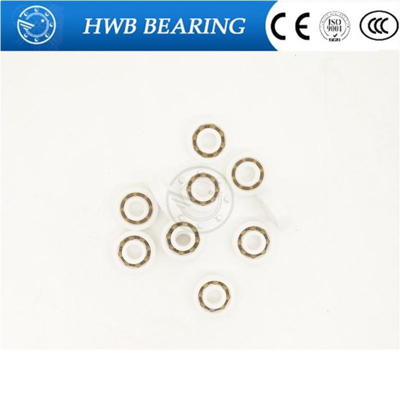 10pcs Miniature deep groove ball bearings POM plastic bearings  608 ( 8*22*7MM) plastic bearing--Free shipping 50pcs pom plastic bearings 608 with glass balls 8x22x7 mm nylon bearing