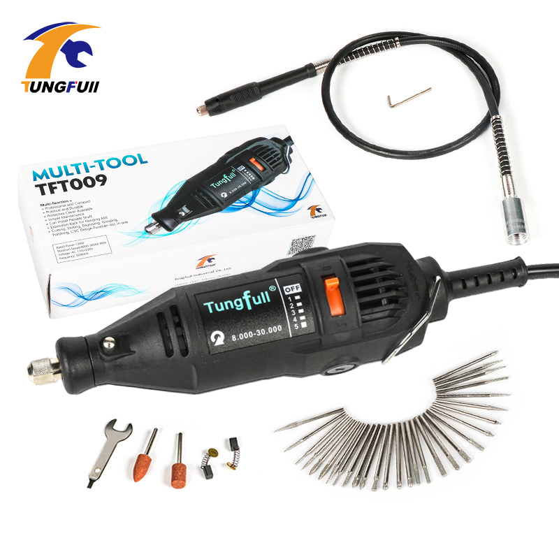 Tungfull Electric Engraver 130W Drill Grinding For Tool Dremel Mini Drill Dremel Tools Rotary Flex Shaft Power Tools