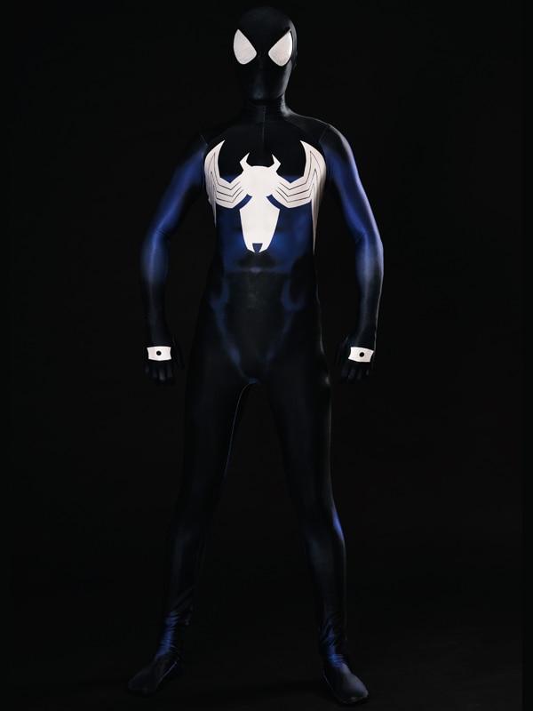 <font><b>Shattered</b></font> <font><b>Dimensions</b></font> Ultimate Spider-Man Costume Blue <font><b>Spiderman</b></font> Superhero Costumes Halloween Cosplay Fullbody Zentai Suit