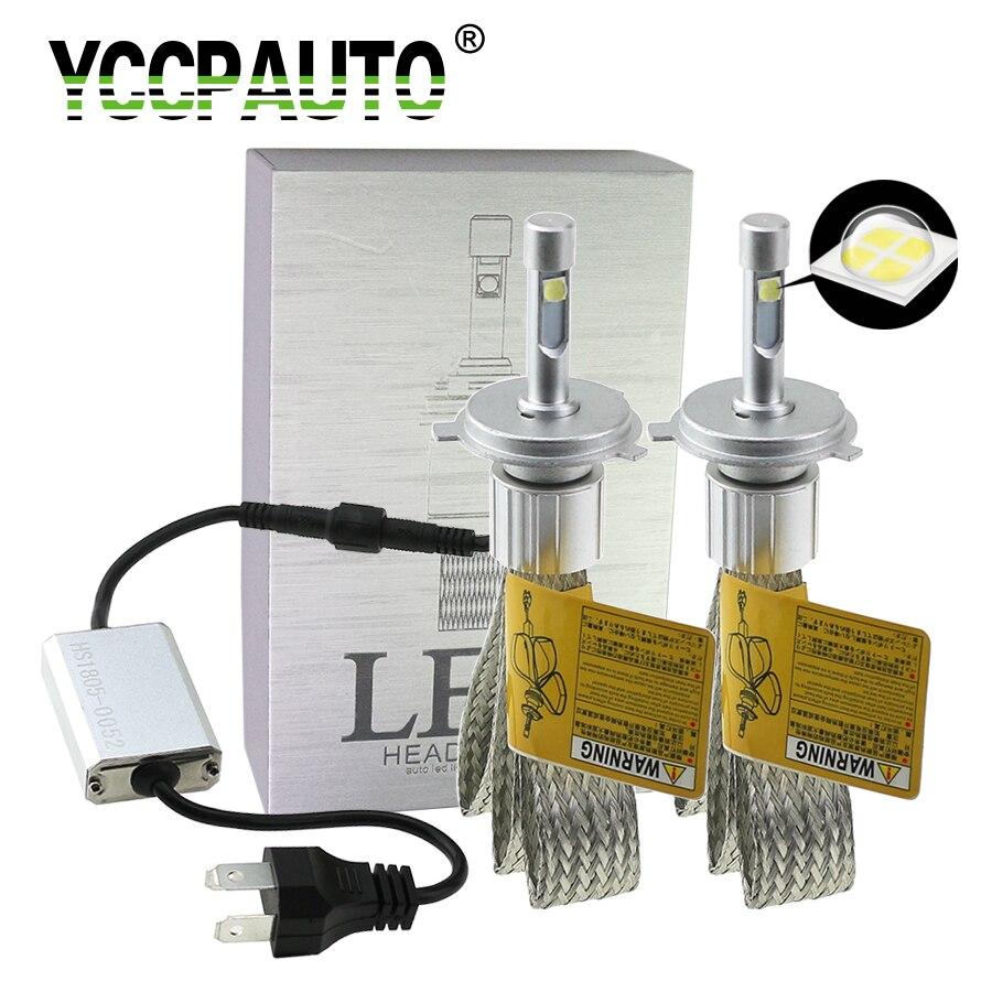 YCCPAUTO 2Pcs H7 LED H4 H11 H8 9005 9006 9004 9007 881 H1 H3 LED Car Headlight Bulbs XHP-50 LED Auto Headlamp 9600LM 6000K 12V