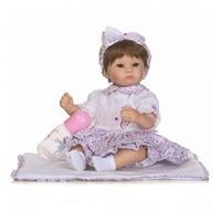 Baby Silicone Reborn Dolls 16 Inch 40 Cm Doll Reborn Baby Brown Eyes Handmade Cotton Body