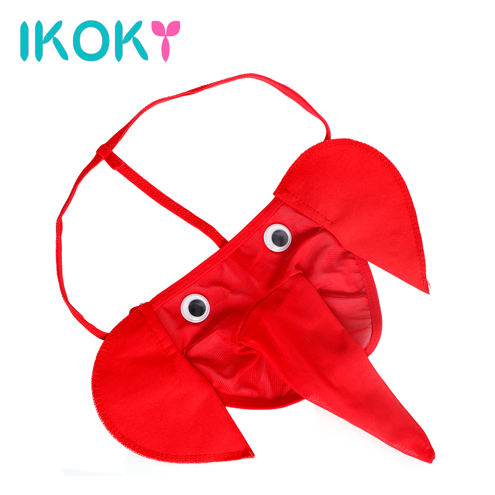 IKOKY 4 Colors G Strings Sexy Man Elephant Shape Special Gifts Role Play SM Bondage Sex Toys for Male Adult Games