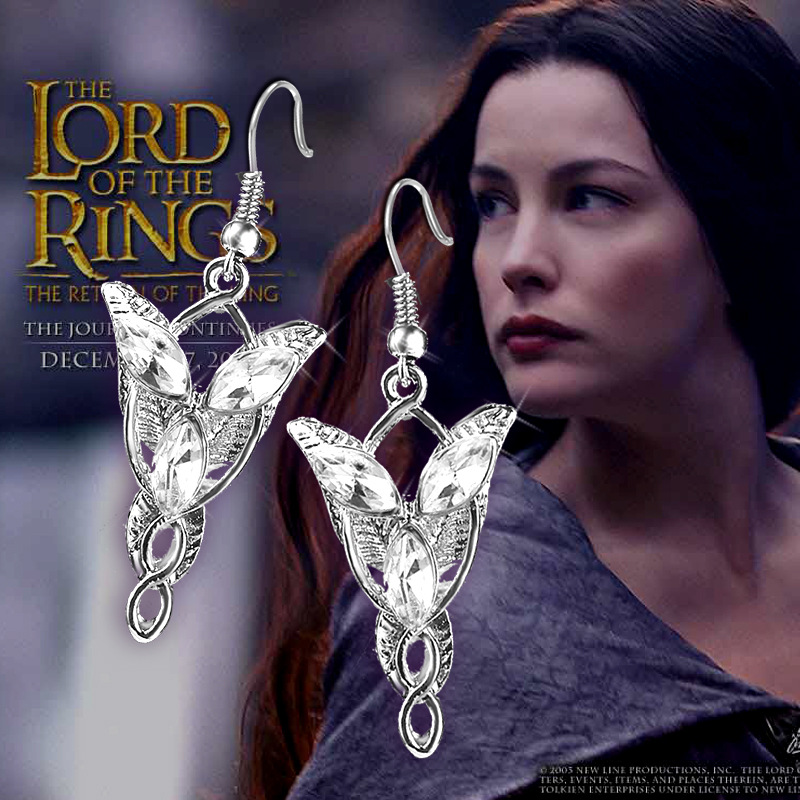Movie Anime Film Jewelry Arwen Evenstar The Elves Princess Crystal Earrings For Women Wholesale Orecchini Pendientes Mujer