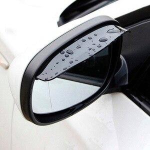 Image 5 - 2 sztuk pcv lusterko wsteczne samochodu naklejki deszcz brwi Auto boczne lustro deszcz deska tarcza cień śnieg osłona Protector