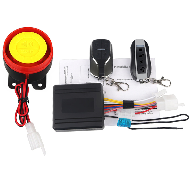 1 Set Motorcycle Anti-theft Security Alarm Protection System 125db Remote Control Scooter Motorbike Security Engine Alarm System