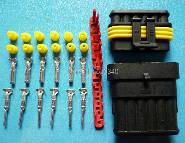 100sets=2900pcs 6Pin/way HID Waterproof Electrical connector kit ...