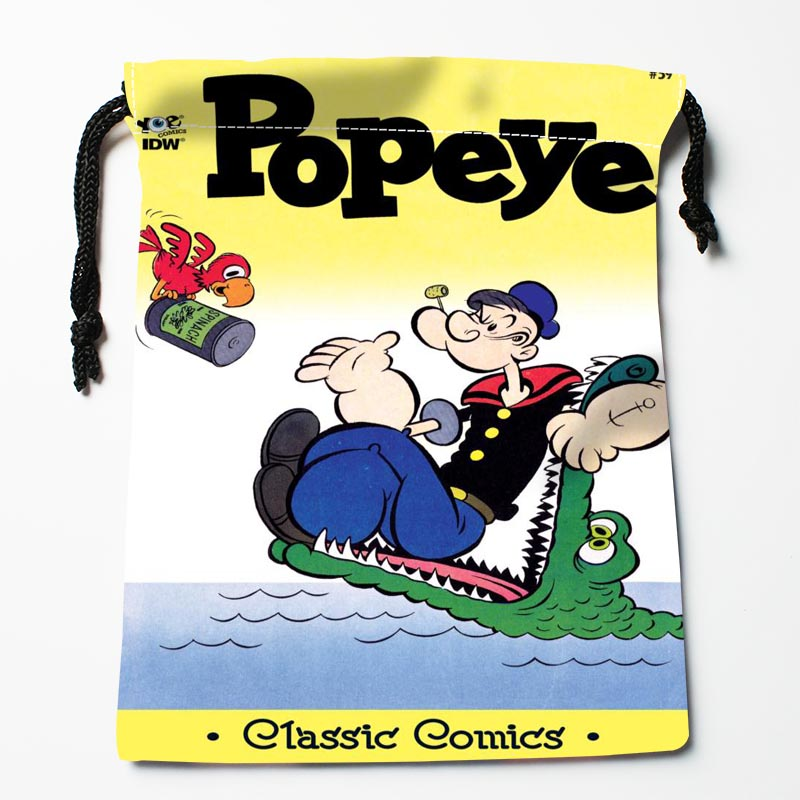 New Arrive  Popeye The Sailor Drawstring Bags Custom Storage Bags Storage Printed Gift Bags More Size 27x35cm DIY Your Picture