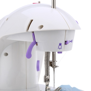 Image 3 - Mini macchina da cucire a pedale portatile Eworld, doppia velocità, doppio filo, multifunzione, elettrico, automatico, riavvolgimento del battistrada, macchina da cucire