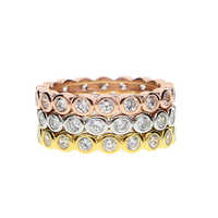 925 sterling silver Fashion Classic Rings for Women Gold-Color White Crystals CZ Engagement Love Ring Jewellery