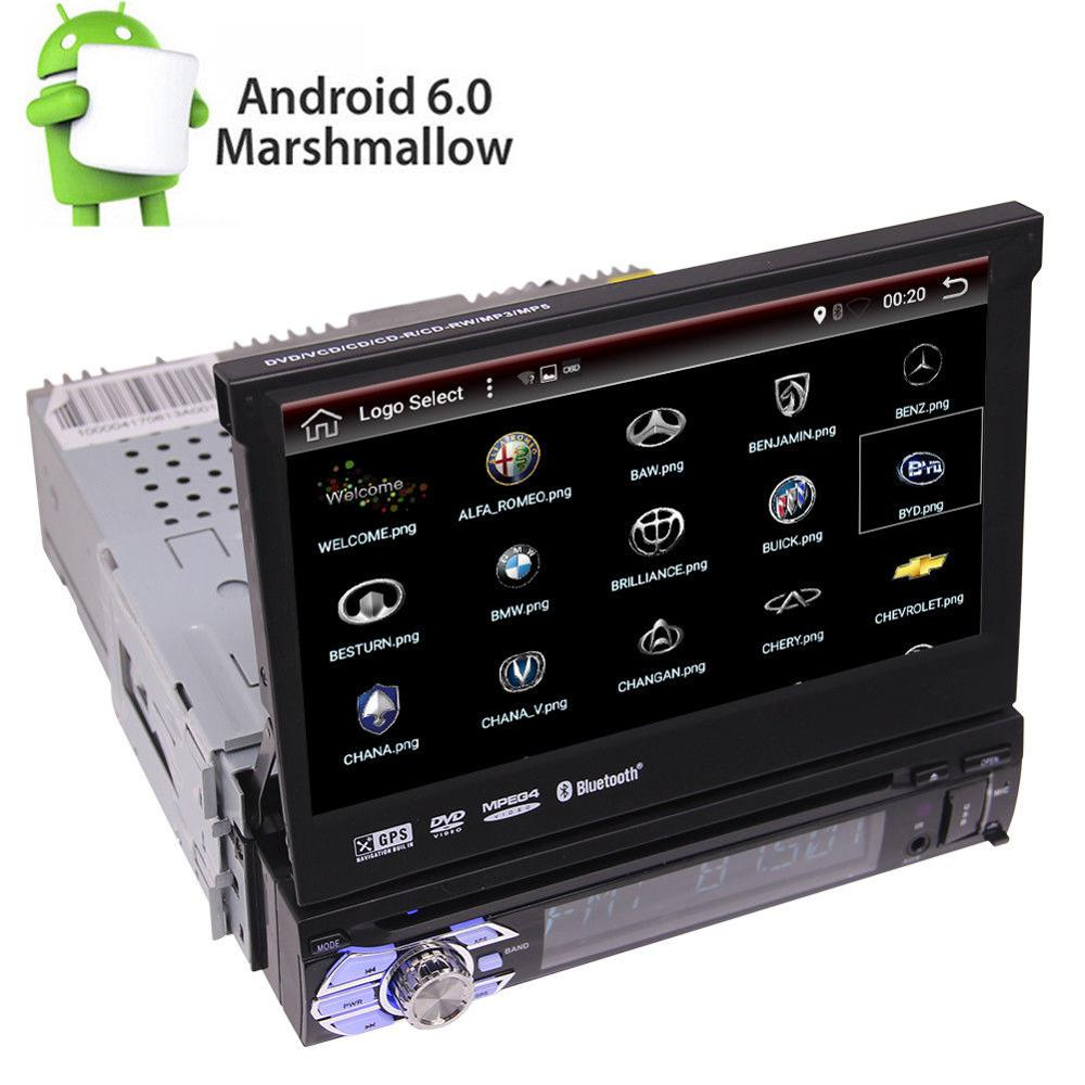 in dash 7 flip out android 6 0 car dvd mp3 car stereo. Black Bedroom Furniture Sets. Home Design Ideas