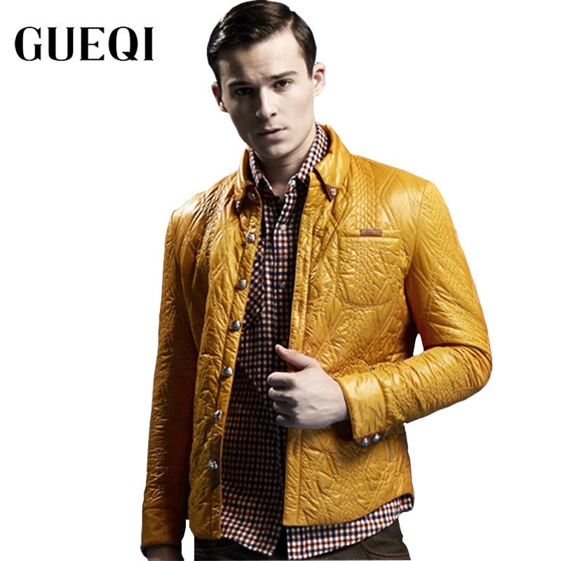 Gueqi autumn winter men warm parkas size m 2xl windproof outerwear man casual shirts jackets