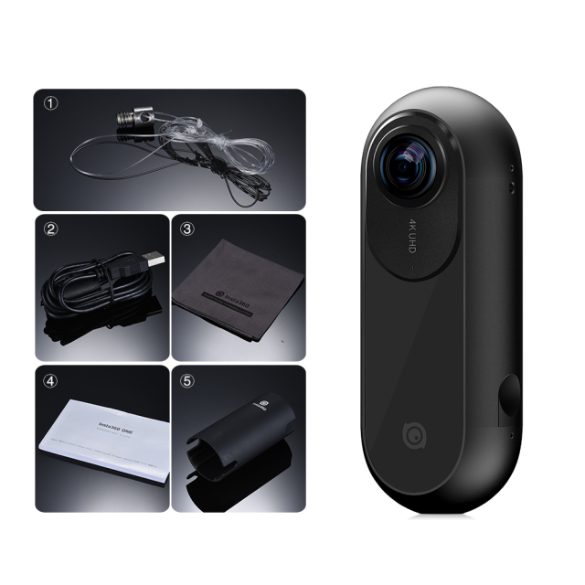 4K 360 Panoramic Camera VR Video Sport Action Camera 24MP Bullet Time