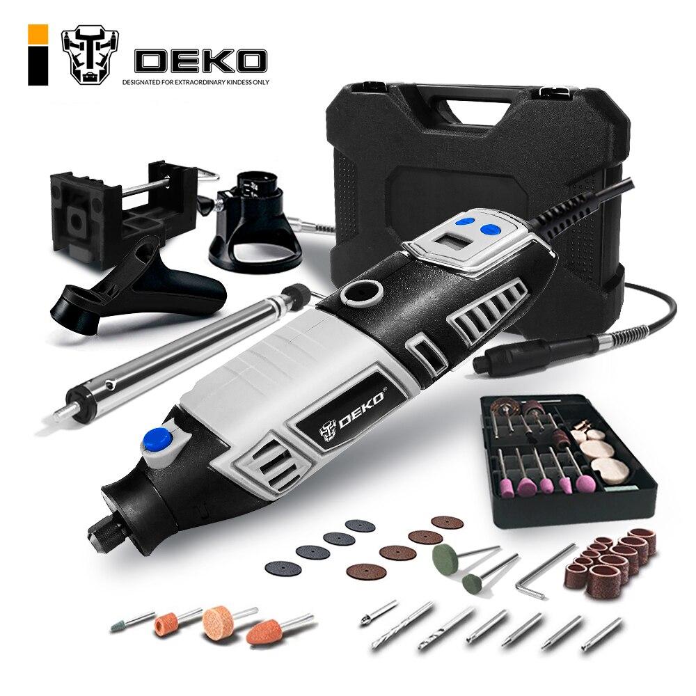 DEKO GJ201 LCD Variable Speed Dreh Werkzeug Dremel Stil Stecher Elektrische Mini Drill Grinder w/Flexible Welle 3 Sets zu Wählen