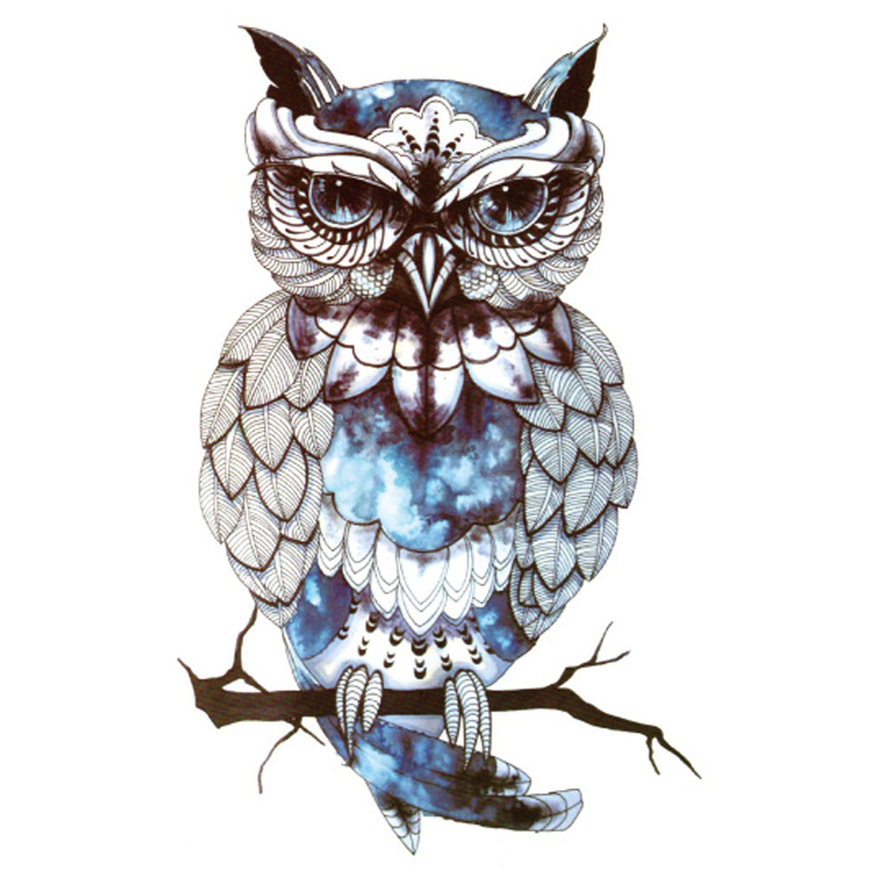 Yeeech Temporary Tattoos Sticker for Men Women Fake Large Glitter Gem Owl Animal Designs Sexy Arm Leg Body Art Waterproof Makeup
