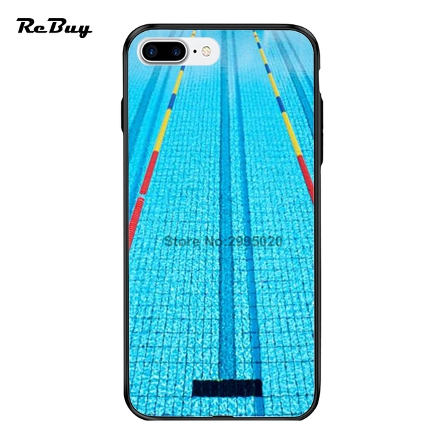 best website 94f26 6208e US $9.0 |Swimmer Swimming Pool Water Cover For Apple 8 8Plus X For Iphone  7plus/7 Case PC And TPU Case For Iphone 6/6plus/6s Funda Shell-in Fitted ...