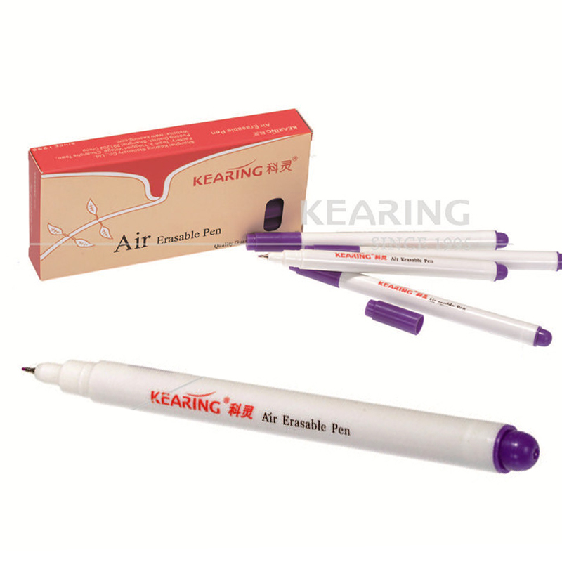 Keling 6pcs/lot Air Erasable Markers Non-toxic Purple Ink Marker for Fabric Pen ClothingKeling 6pcs/lot Air Erasable Markers Non-toxic Purple Ink Marker for Fabric Pen Clothing