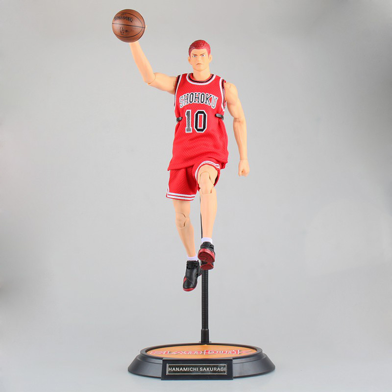 anime SLAM DUNK Hanamichi Sakuragi action figure Number 10 shirt pvc classic collection toy model garage kit 34cm anime one piece arrogance garp model pvc action figure classic collection garage kit toy doll