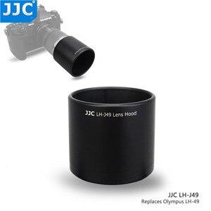 Image 2 - JJC ABS adanmış Lens Hood gölge koruyucu Olympus M.ZUIKO dijital ED 60mm f2.8 makro Lens yerine Olympus LH 49 siyah