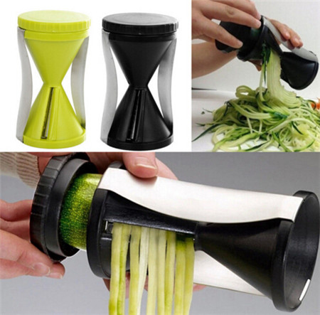 1PCS Funnel Model Spiral Slicer Vegetable Shred Device Cutter Cooking Tool Carrot Piece Grater New Kitchen