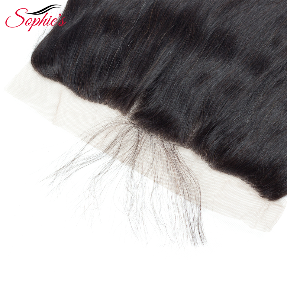 Sophie's Lace Closure Brazilian Hair 13 * 4 Lace Frontal Straight - Skønhed forsyning - Foto 4
