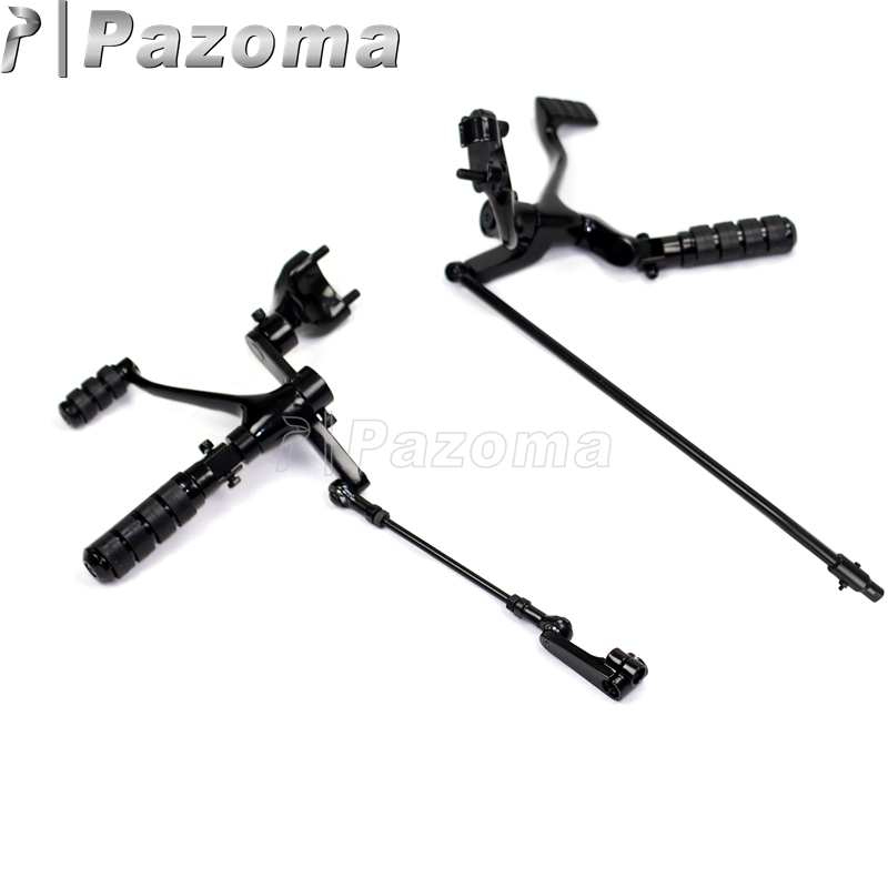 Pazoma Forward Controls Kit Pegs Levers Linkage Motorcycle Foot Rests For Sportster 1200 Forty Eight XL1200X 2014 2015 2016
