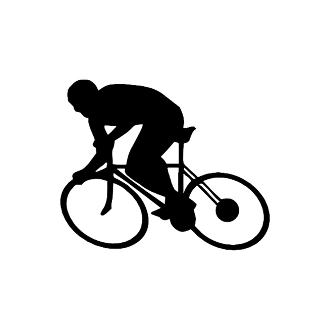 Aliexpresscom  Buy Cycling Men Silhouette Reflective Vinyl Decal - Cycling custom vinyl decals for car