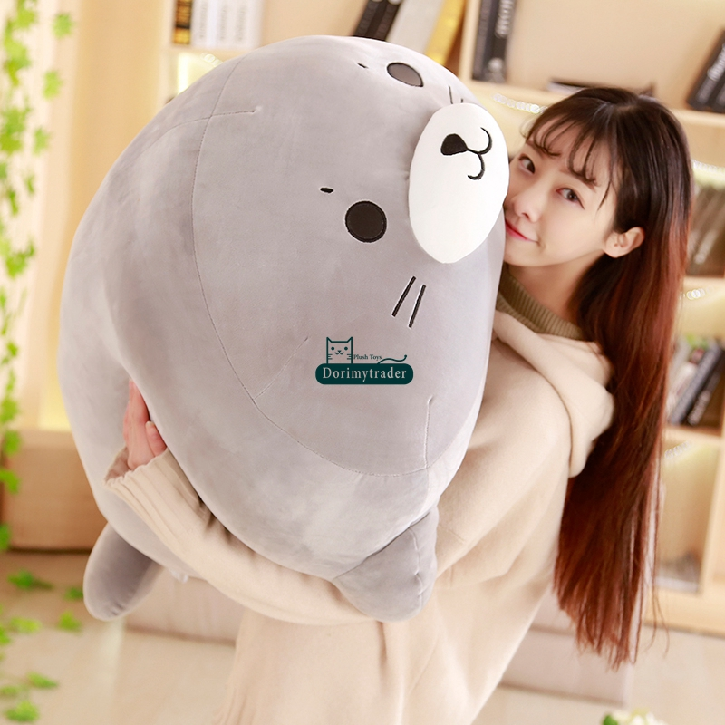 Dorimytrader cuddly soft fat sea animal seal plush toy big stuffed cartoon sea seal doll sleeping pillow kid gift 50cm 90cm