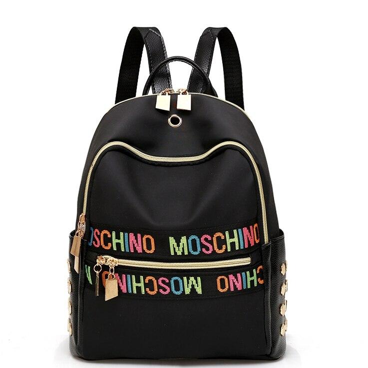 Women Backpacks Women's Nylon Girl School Bag High Quality Ladies Bags Designer Bolsas masculina harajuhku mochilas kanken USB